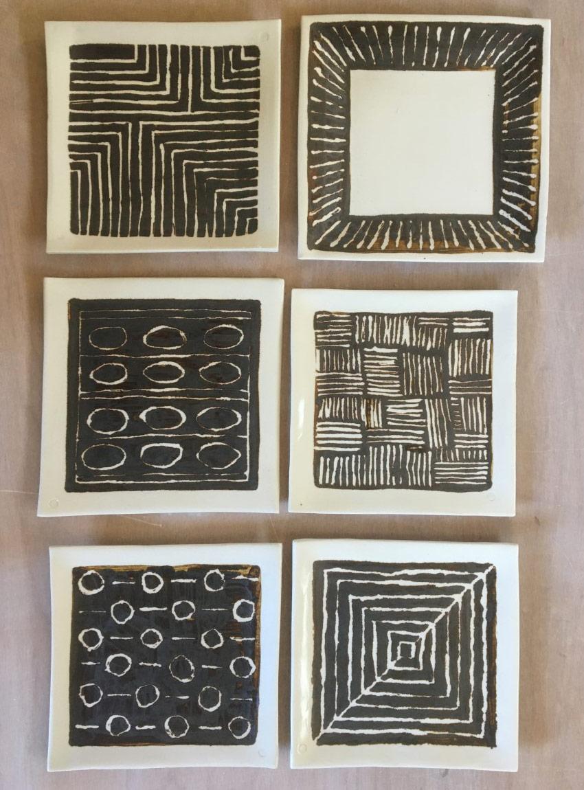 Ceramic plates by Gary McPhedran