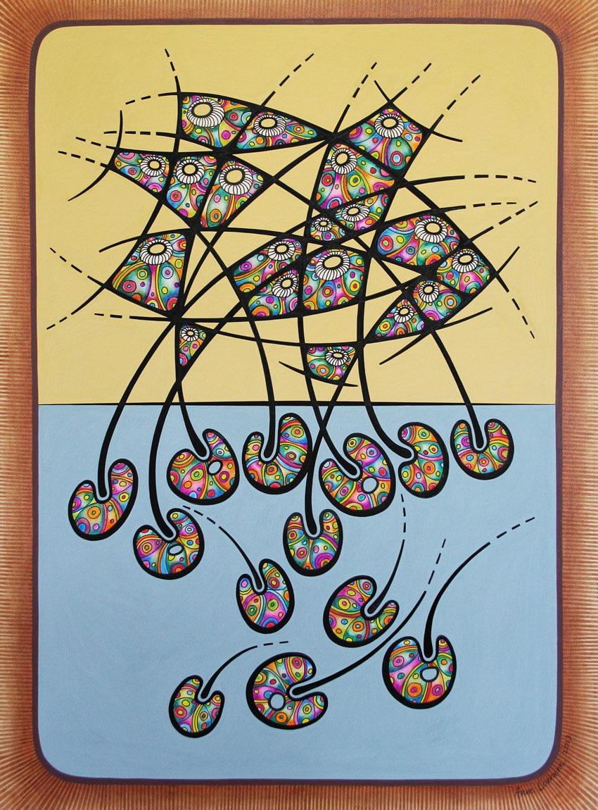 Anne Lorraine mixed media artwork
