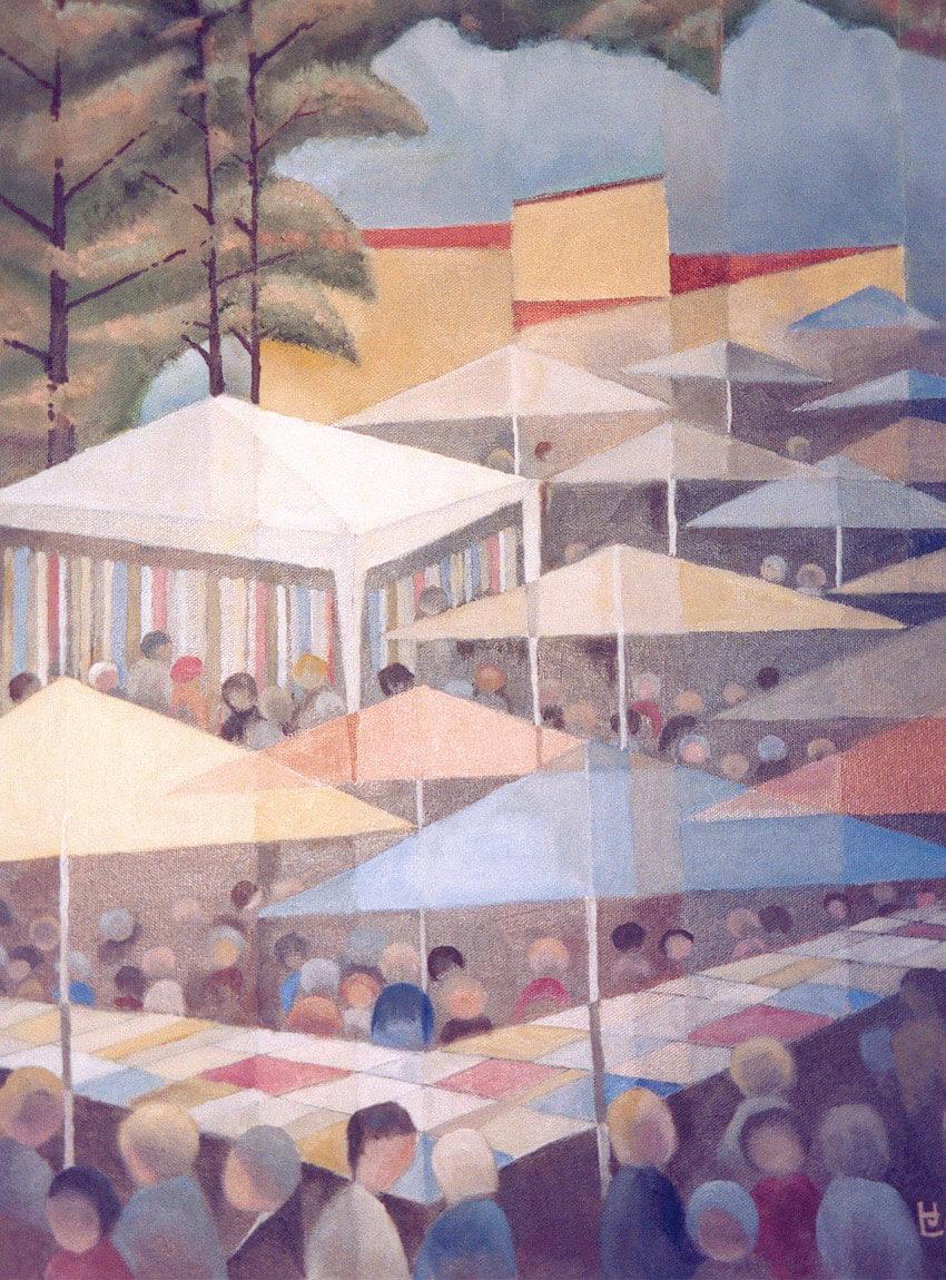 Hans Lorraine - Community Market painting