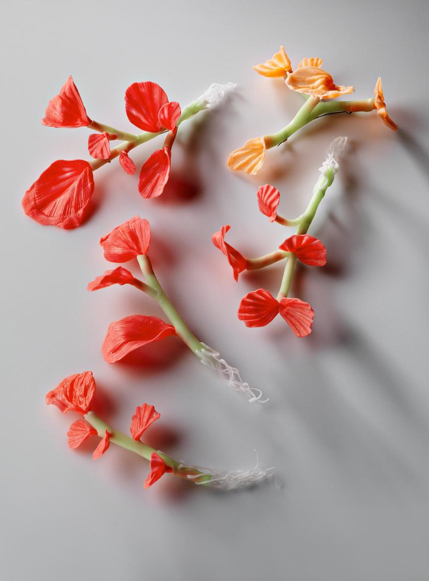 Catherine Truman - Fluro Plant brooches