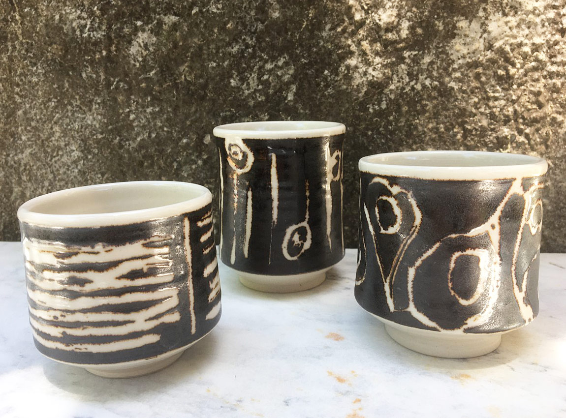 Ceramic teacups by Gary McPhedran