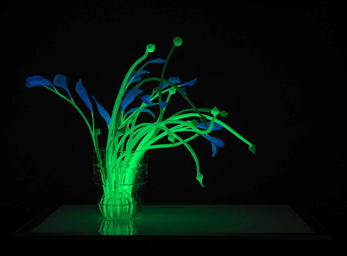 GLowing plant sculpture by Catherine Truman