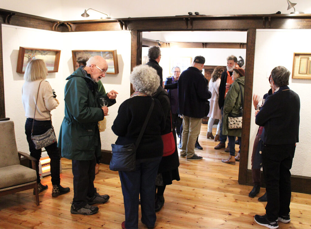 People viewing exhibition at WAS Gallery