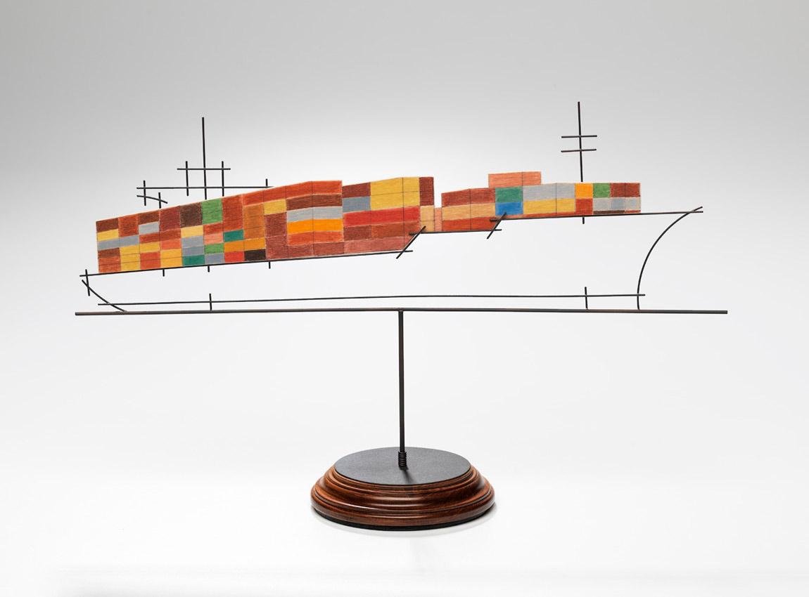 Ship sculpture by Sue Lorraine