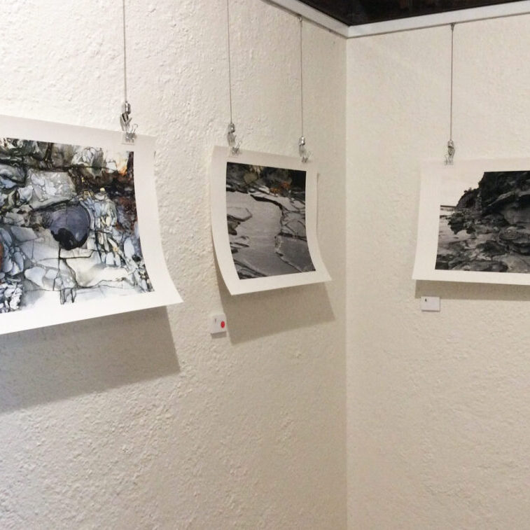 Exhibition of work hung on walls at WAS Gallery